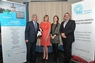 Dr Philip Smith with Laura Wiles, Lauren Payne and Nicholas Mann of Interdirect